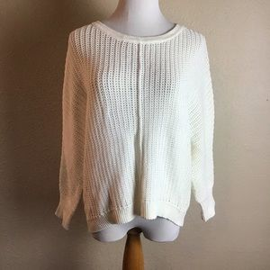 Athleta cream colored knit sweater M